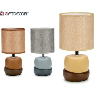 Ceramic lamp 2blocks s3 beige grey brown