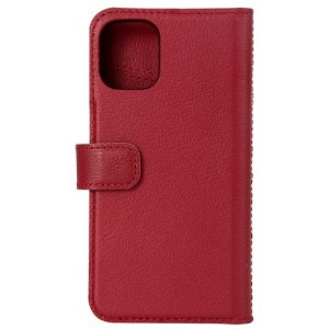 Essentials Iphone 12 Mini, Leather Wallet, Detachable, Red - Mobilcover