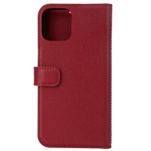 Essentials Iphone 12/12 Pro, Leather Wallet, Detachable, Red - Mobilcover