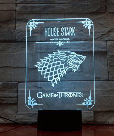 Game Of Thrones 3D Lampe - Winter Is Coming