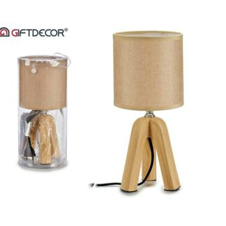 Lamp short tripod ceramic beige