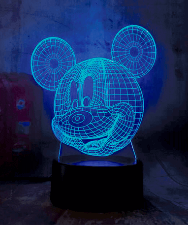 Mickey Mouse 3D lampe