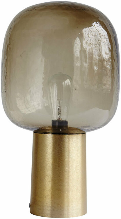 Note, Lampe by House Doctor (D: 28 cm. x H: 52 cm., Grå/Messing)