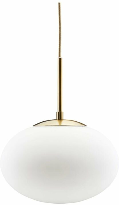 Opal, Lampe by House Doctor (D: 30/20 cm. x H: 35 cm., Messing/Hvid)