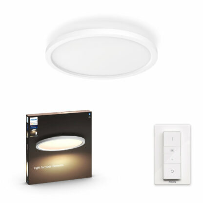 Philips Hue - Aurelle Round Ceiling Lamp - White Ambiance - Bluetooth Dimmer Included
