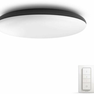 Philips Hue - Cher Hue ceiling lamp black 1x39W 24V - White Ambiance Bluetooth Dimmer Included