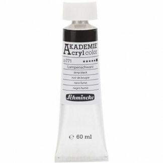 Schmincke AKADEMIE® Acryl color, Lamp black (771) , opaque, extremely