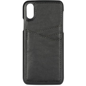 iPhone X/XS, PU Triple Card Cover, sort - Mobilcover
